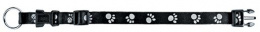 Atstarojošā kakla siksna suņiem - Paw Reflect Collar, XS-S, 25-40cm/15mm, melna