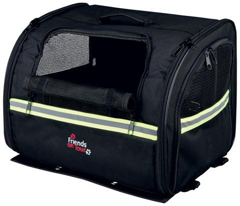 Velosipēdu soma dzīvnieku transportēšanai - TRIXIE Biker-Bag, 35*28*29cm, krāsa - melna