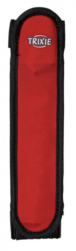 Отражающий ошейник для собак - TRIXIE Flash safety band/strip, 16 см, цвет - красный/черный