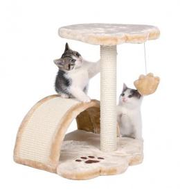 """Mājiņa kaķiem - """"Vitoria"""" 50cm (bēša krāsa)"""