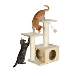 Mājiņa kaķiem - Valencia; 71 cm (bēša krāsa)