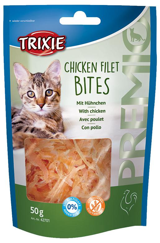 Gardums kaķiem - PREMIO Chicken Filet Bites, 50g