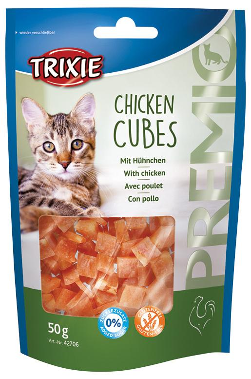 Gardums kaķiem - Premio Cubes Chicken, 50 g