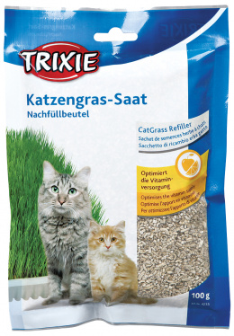 Zāle kaķiem - Trixie, Bio Cat Grass 100g (bag)