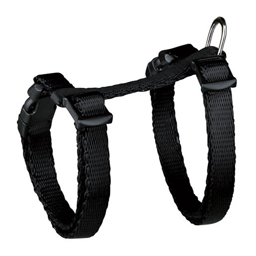 Krūšu siksna kaķēniem - Kitten harness, with lead, 19-31 cm / 8 mm, nylon