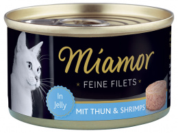 Консервы для кошек - Miamor Filet Tuna&Shrimps 100g