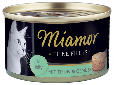 Konservi kaķiem - Miamor Filet Tuna & Vegetable, 100 g