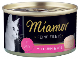 Konservi kaķiem - Miamor Filet Chicken & Rice, 100 g