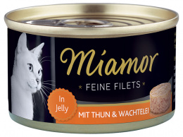 Konservi kaķiem - Miamor Filet Tuna and Quail Egg, 100 g