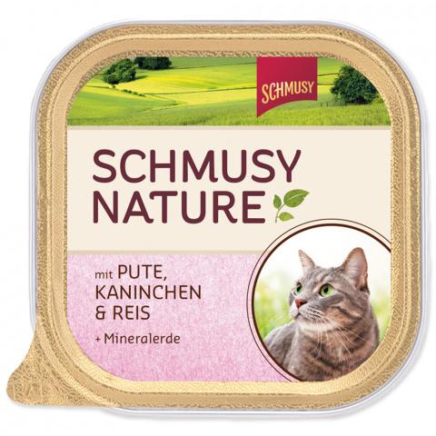 Konservi kaķiem - Schmusy Nature ar tītaru, trusi un rīsiem, 100g