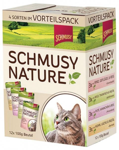 Konservi kaķiem - SCHMUSY NATURE multipack 1200 gr