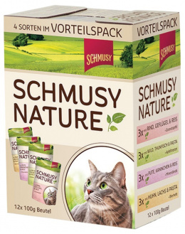 Консервы для кошек - SCHMUSY NATURE multipack 1200 гр