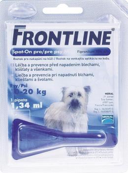 Pretblusu un pretērču pilieni suņiem - Frontline Dog Medium 1 pip., bezrecepšu vet.zāles - bezrecepšu vet.zāles reģ. NR: VA - 072463/3
