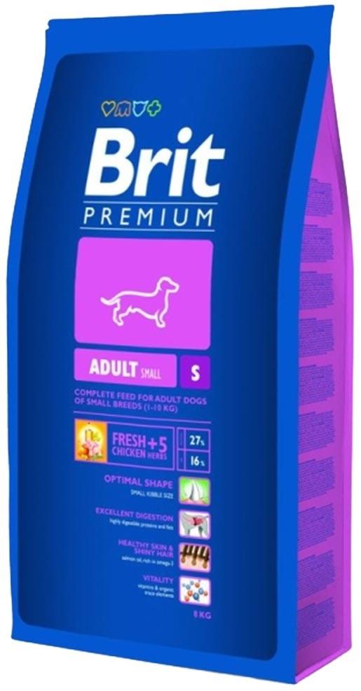 Barība suņiem - BRIT Premium Adult S, 1kg