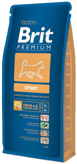 Корм для собак - BRIT Premium Sport, 15kg