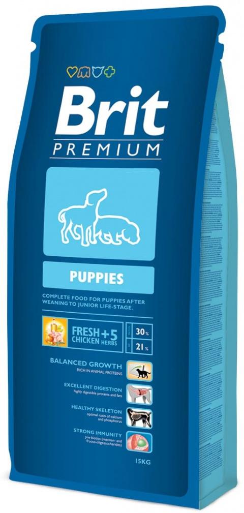 Barība kucēniem - BRIT Premium Puppies, 15 kg