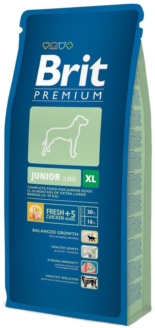Bar­ība kucēniem - BRIT Premium, Junior XL, 3 kg