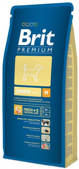 Корм для собак - BRIT Premium Junior M, 3kg