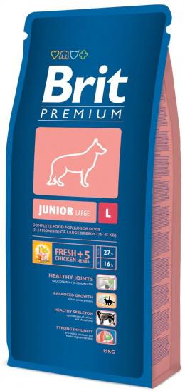 Корм для собак - BRIT Premium Junior L, 15кг