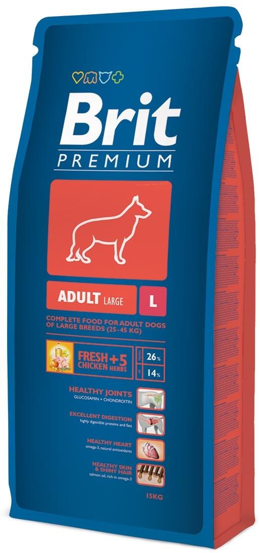 Barība suņiem - BRIT Premium Adult L, 15kg