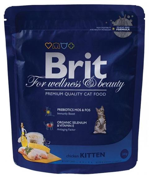 Barība kaķēniem - BRIT Premium Cat Kitten, 300 g title=