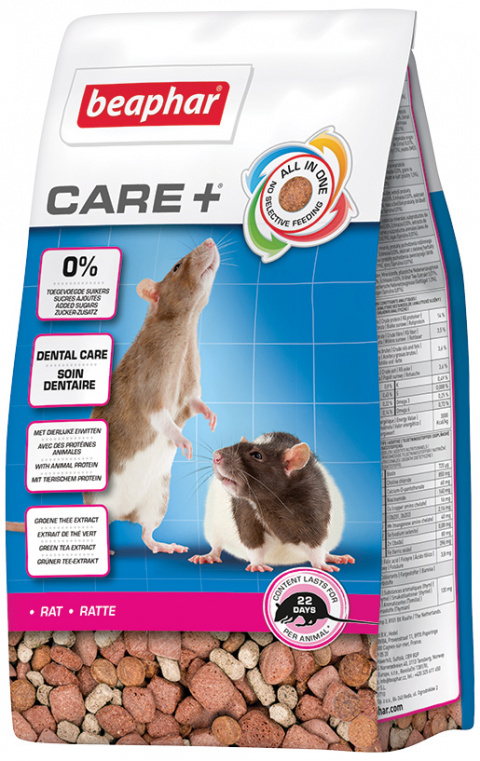 Корм для крыс - Beaphar Care+ Rat, 250 г title=