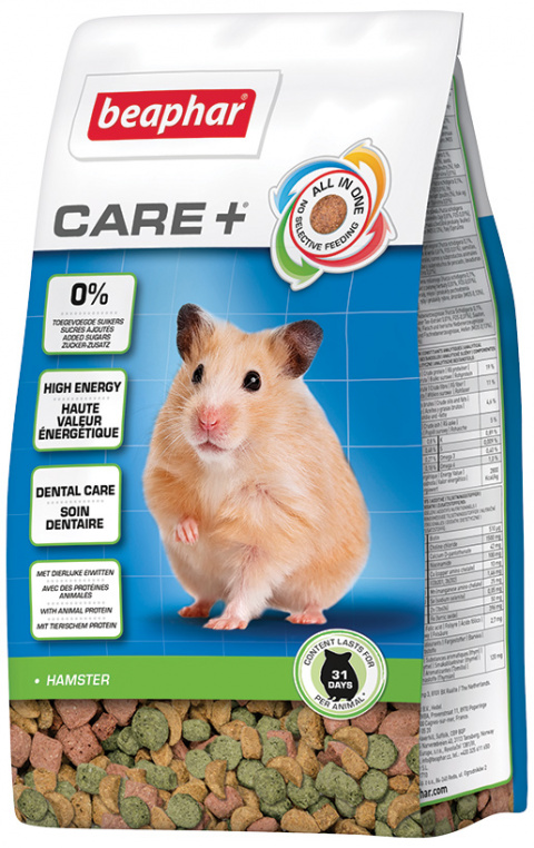 Bar­ība kāmjiem - Beaphar Care+ Hamster, 250 g title=