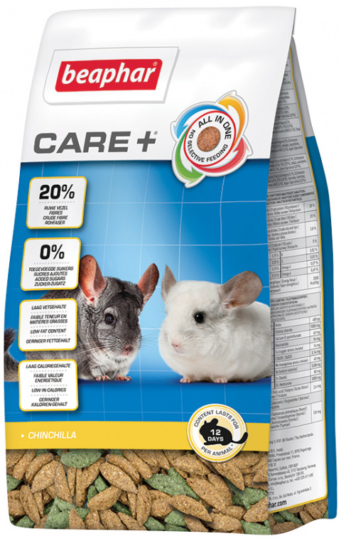 Корм для шиншилл - Beaphar Care+ Chinchilla, 250 г