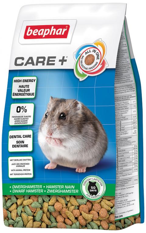 Barība pundurkāmjiem - Beaphar Care+ Dwarf Hamster, 250 g