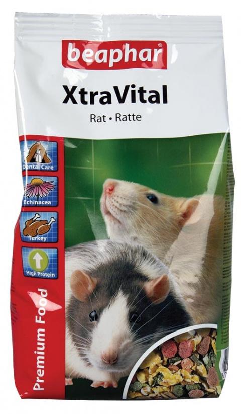 Barība žurkām - XtraVital Rat, 0.5 kg