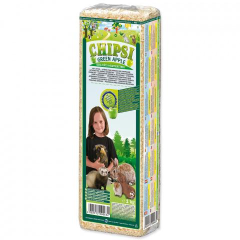 Опилки - Chipsi, Green Apple, 15 л / 1 кг title=
