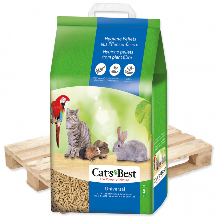 Наполнитель для туалетов, клеток, вольеров -  Cats Best Universal, 7 л