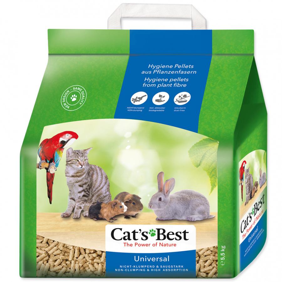 Наполнитель для туалетов для животных - Cats Best Universal, 10 л (5,5 кг)