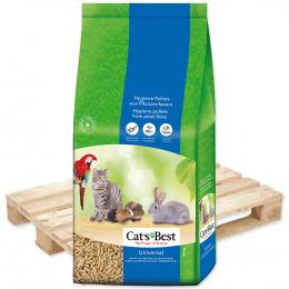 Наполнитель для туалетов, клеток, вольеров - Cats Best Universal, 40 л (22 кг)