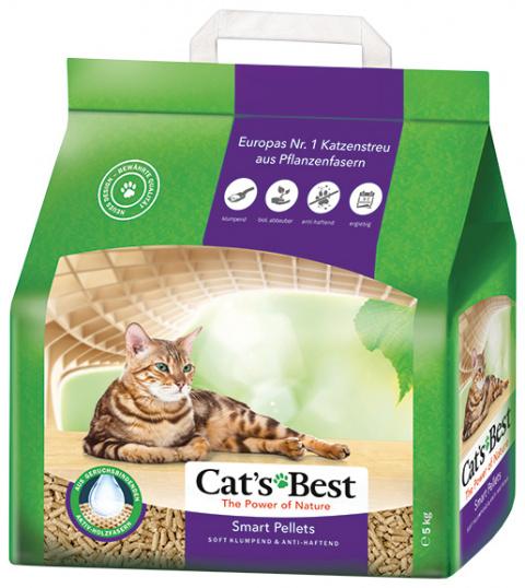 Древесный наполнитель для кошачьего туалета - Cat's Best Nature Gold, 10 л title=