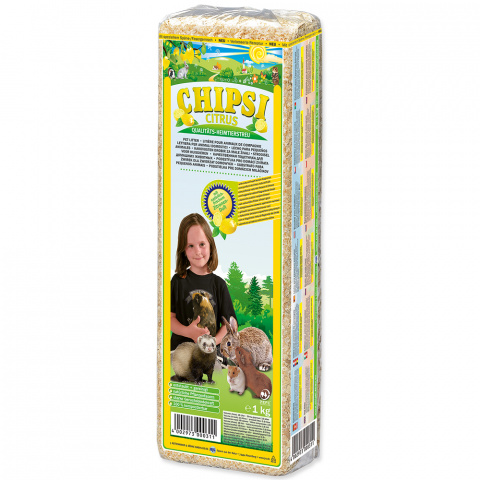 Опилки - Chipsi, Citrus, 15 л / 1 кг title=