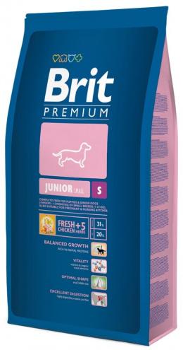 Barība suņiem - BRIT Premium Junior S, 1kg
