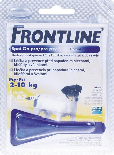 Pretblusu un pretērču pilieni suņiem - Frontline Dog Small, 1 pip., bezrecepšu vet. zāles, reģ. NR: VA - 072463/3 title=