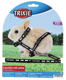Аксессуар для грызунов - Шлейка для маленьких кроликов, нейлон, 20 - 33cm / 8 mm, 1.25 m