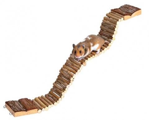 Аксессуар для клетки грызунов - Натуральная Живая лестница, 7*55 см title=
