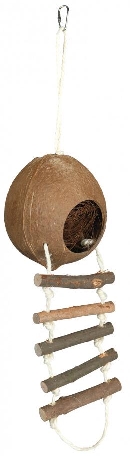 Aksesuārs grauzēju būrim - kokosa māja kāmjiem, Q 13 cm