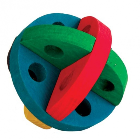 Игрушка для грызунов - Trixie Play and snack ball, wooden, 8 см title=