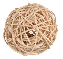 Игрушка для грызунов - TRIXIE Плетеной мяч с колокольчиком, 4 см