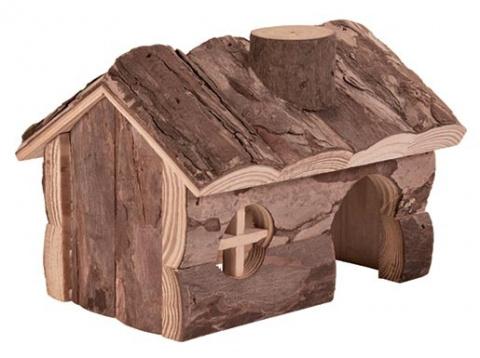 Деревянный домик для грызунов - Trixie Natural Living Hendrik house, 14x11x11 см title=