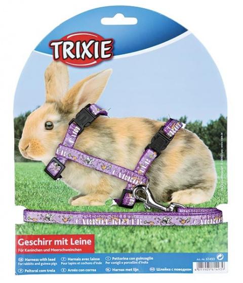 Аксессуар для грызунов - Trixie, Rabbit harness with lead title=