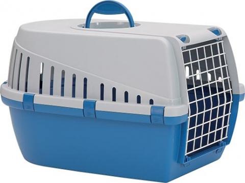 Transportēšanas bokss dzīvniekiem – Savic, Trotter 1, blue - grey, 49 x 33 x 30 cm title=