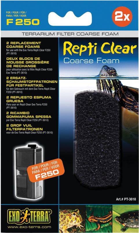Terārija filtru pildījums - Rough Foam for Exo Terra Repti Clear F250