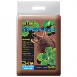Песок для террариума - ExoTerra Riverbed Sand коричневый 4,5kg