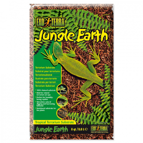 Pakaiši terārijam - ExoTerra Jungle Earth 8,8 L