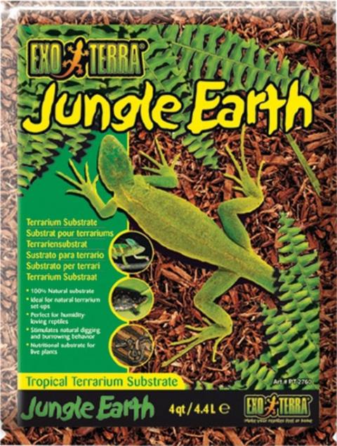 Наполнитель для террариума - ExoTerra Jungle Earth 4,4 L title=